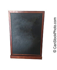 black board on white background, isolated