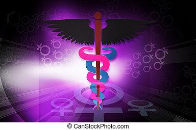 Medical - Illustration of a medical emblem