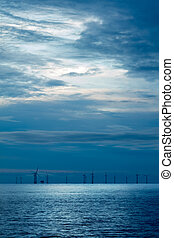 first light - Offshore wind farm early morning