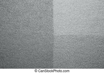 Grey wool plaid texture macro shot - Soft and warm folded...