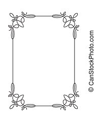 Classical decorative simple calligraphic frame in mono line...