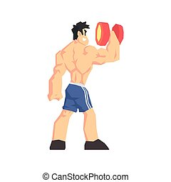 Weightlifter From Behind Vector Illustration - Weightlifter...