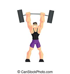 Weight Lifter Vector Illustration - Weight Lifter Cool...