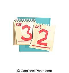 Loose-leaf Calendar Weekend Pages