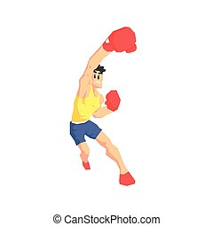 Boxer Attacking Vector Illustration - Boxer Attacking Cool...
