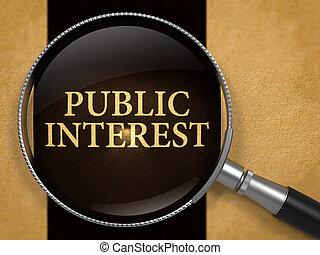 Public Interest Concept through Magnifier. - Public Interest...