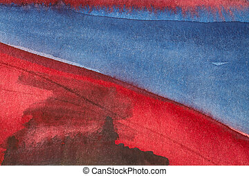 Beautiful red blue watercolor background 1 - Red and blue...