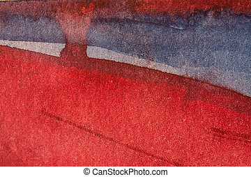 red watercolor background with paper texture - Red and blue...