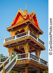 Bell Tower in the temple of Thailand
