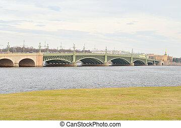 Trinity Bridge and Neva River - Trinity Bridge and Neva...