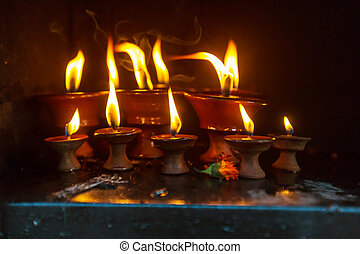 Candles at a temple