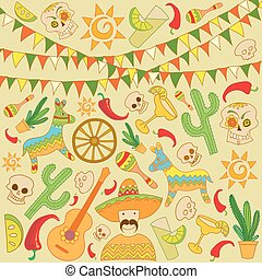 Cinco de Mayo Background Elements
