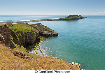 Worms Head Rhossili The Gower Wales - Worms Head Rhossili...