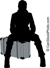 Silhouette travel woman - Silhouette girl
