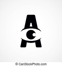 letter A logotype logo sign theme vector art illustration