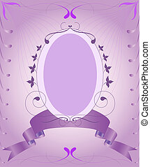 Lilac vintage frame - Lilac vintage frame with abstract...