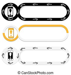 Abstract buttons for your text and smart phone and...