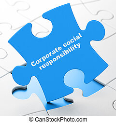 Business concept: Corporate Social Responsibility on puzzle background