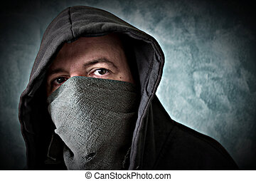 bandit - man with covered face