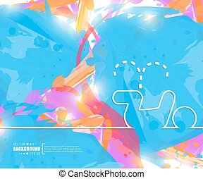 Creative vector pee Art illustration template background For...