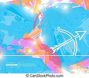 Creative vector cupid bow. Art illustration template...