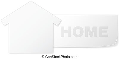 Vector concept house symbol like paper label - Symbol of...