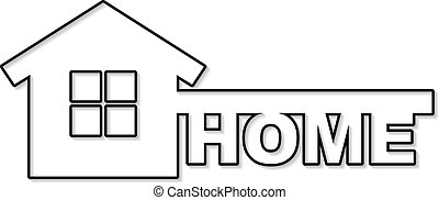 Vector concept house symbol - Symbol of home like key and...