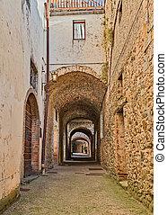 Via delle Volte in Castellina in Chianti, Siena, Tuscany,...