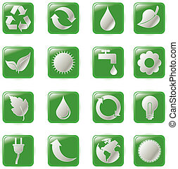 green environmental bubbles - Vector illustration green...