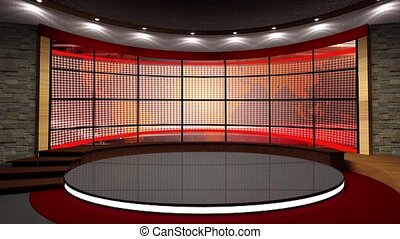 News TV Studio Set -112 - News TV Studio Set 112 - Virtual...