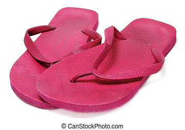 flip-flops - a pair of flip-flops floating isolated on a...
