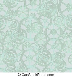 grid seamless 02 green - gears on a green background,...