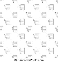 Pencil and sheet pattern seamless black for any design