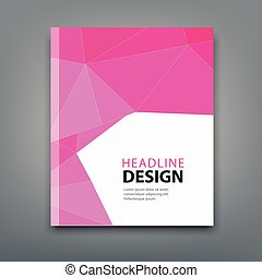 Modern brochure cover design professional book in poligonal...