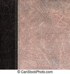 bicolor leather vintage background