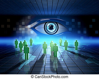 Web surveillance - Monitoring people's online activity....