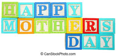 feliz, madres, día