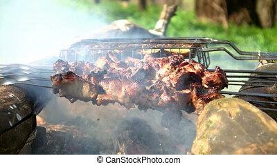 Loopable cooking of shish kebab