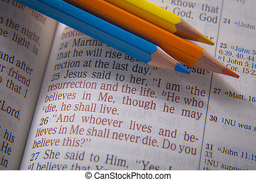 Bible text - I am the resurrection and the life - I am the...
