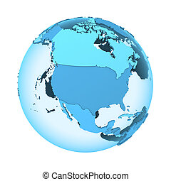 North America on translucent Earth - North America on...