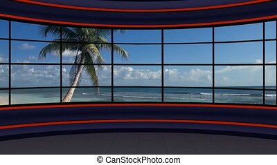 News TV Studio Set -119 - News TV Studio Set 119 - Virtual...