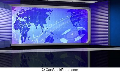 News TV Studio Set -116 - News TV Studio Set 116 - Virtual...