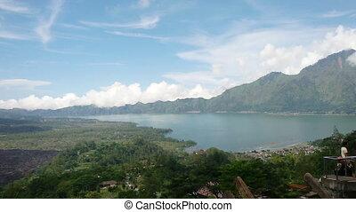 Batur Volcano and Lake Batur Bali Indonesia