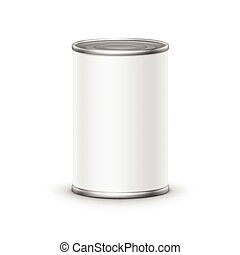 Tin box can packaging container isolated vector illustration...