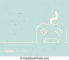 Creative vector controller. Art illustration template...