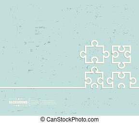 Creative vector puzzle. Art illustration template...