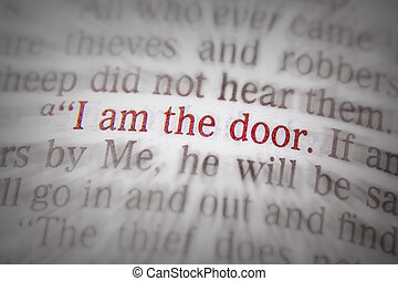 Bible text - I AM THE DOOR - John 10:9 - I AM THE DOOR Bible...