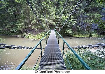 Bridge over Hornad river in Slovak Paradise National Park