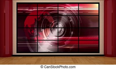 News TV Studio Set -123 - News TV Studio Set 123 - Virtual...