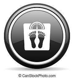 weight black circle glossy web icon